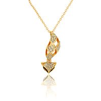 Best gift ,wholesales,Real Gold Plated Cute Fox Pendant Necklace with  Rhinestone Necklace,factory price,free shipping