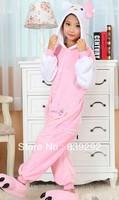 Kids hello kitty c006 onesies Pyjamas Cartoon Animal Cosplay Costume Pajamas Kids Onesies Sleepwear Halloween