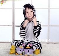 Kids zebra onesies Pyjamas Cartoon Animal Cosplay Costume Pajamas Kids Onesies Sleepwear Halloween