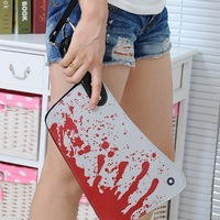 Free shipping novelty Blood Choppers clutch handbag Creative Phone Bag Bloody knife Clutch bag for man woman clutch bag