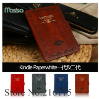 Free Shipping Mosiso Vintage Auto Sleep Ultira Slim PU Leather Case Cover for Amazon Kindle Paperwhite NEW Kindle Paperwhite 5