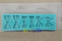 Sugar biscuits cake baking mould liquid silica gel mould small bow style