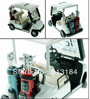Transparent LCD Clock Miniature Golf Cart Free Shipping