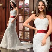 On Sale Drop Shipping 2014 Fashion Tube-Top Mermaid Fish Tail Slim Wedding Dress Bridal Formal Lace Up Maternity Wedding Dresses