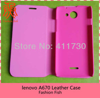 1pcs FreeShipping 100% Original leather case for Lenovo A670 Case Multicolor Choose christmas gifts