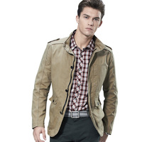 Men's Jacket Autumn&Winter Cotton Overcoat Uniform Style Fashion 2013 New Arrival Free Shipping Whole Sale MWJ203