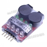 20pcs/lot 2-4S 2 in 1 2in1 RC Lipo Battery low voltage Buzzer Alarm Indicator