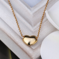New Arrival Best gift ,wholesales,High Quality Real Gold Plated Heart Pendant Necklace with Rhinestone Necklace,free shipping