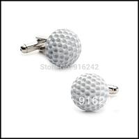 High Quality Brazil Hot Sale Brass Shirts Gemelos Mens Groomsmen Gifts Sports Golf Ball Luxury Custom Cufflinks