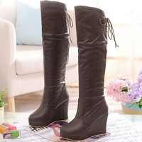 2013 winter boots wedges high-heeled platform knee-length boots tall boots