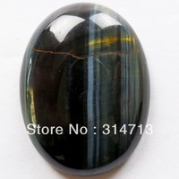 (Min.order 10$ mix) Free shipping Blue Tiger Eye Gem Oval CAB CABOCHON