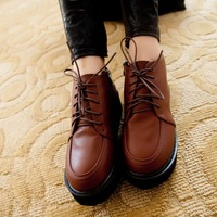 2013 autumn shoes platform wedges platform fashion vintage lacing casual shoes