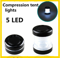2013 NEW Outdoor portable Compression tent lights 5 LED Hanging lamp emergency Compressed like the lid
