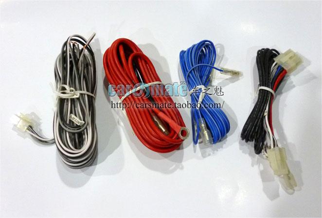 Alta qualidade azul mbq conjunto chicote de fios de linha subwoofer ultra fino orador cabo de alimentação cabo kit(China (Mainland))