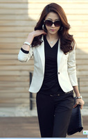 2013 new autumn -summer Women's Fashion Korea Candy Color Slim Suit Blazer Coat Jacket  M L XL Tops