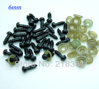 200 Sets(100pair)  plastic  doll eyes handmade accessories for Bear Doll Animal Puppet making  6mm