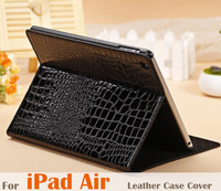 Top Quality Luxury CROCO Leather Case For Apple iPad Air Smart Cover Stand Design Tablet Display For ipad5 Protective Shell Bag