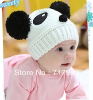 2013 NEW Panda shaped Lovely Boy girl Hats,winter baby hat,Knitted caps children Keep warm hat