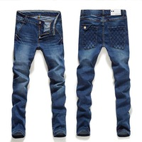 2013 fashion designer brand men elastic  jeans skinny denim pants trousers,8708