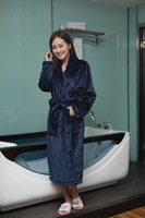 Winter thickening flannel robe bathrobes mink velvet female robe at home service lovers sleepwear