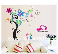 "92x110cm (36""x43"") DF5105 Beautiful Tree Wall Sticker Home Decor Large Vinyl SGS Removable PVC Mixable 2lots=Free Express"