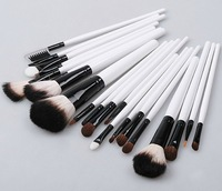 20pcs Cosmetic Make up Brush Kit Makeup Brushes Tools Set  pink or black color Leather Case (CB06)