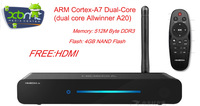 H4 Android Smart TV Box STB XBMC network network player metal usb wifi iptv