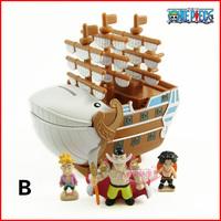 free shipping with original retail box 11x11x7 cm one piece Pirata Boat Newgate pvc figure,action figure EW-hzw-0089
