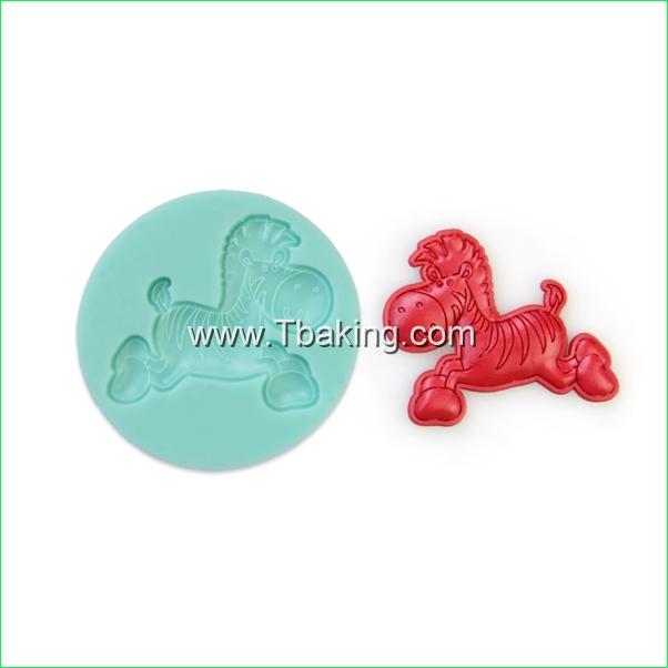 Tc Silicone Mold bolo Bakeware decoração Sugarcraft Fondant barro Soap Mold forma cavalo(China (Mainland))
