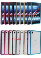 Anodized Aluminum Metal Sliding Bumper Frame Case Mobile Phone Case For Sony Xperia Z1 C6902/L39h