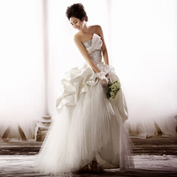 2013 new arrival wedding dress tube top sweet princess a-line skirt wedding qi ff01071