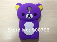 cute bear silicone case for samsung galaxy S IV I9500 50pcs silicone case for samsung galaxy S4 i9500 free shipping by dhl ems