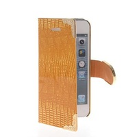 Luxury Chrome Crocodile Skin Flip Leather Wallet Card Pouch Case Cover For Apple iPhone 5 5G 5S