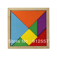 New Wooden Tangram Brain Teaser Puzzle Educational Developmental Baby Toy Tonsee