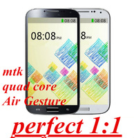 hot sales perfect 1:1 s4 I9500 9500 Quad core IPS 8MP 3G GPS MTK phone Air Gesture Android 4.2 1G RAM 4G ROM unlocked In Stock