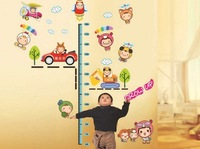 2013 New Wall Sticker Vinyl Decals Cute Animals Height Measure Home Decoration Kids Children Room Decor removable Wall Stickers