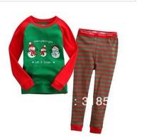 FREE SHIPPING 6sets/ lot  children pajamas set  kids Christmas clothes set
