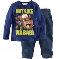 free shipping  Retail  2-7 years baby 100% cotton baby clothing kids pajama sets car design