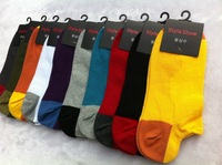 Mixed colors Men Boat socks,Relent combed cotton socks,10colors/lot,free shipping