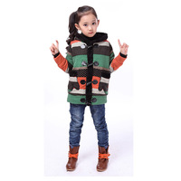 2013 children's winter clothing thickening plus velvet overcoat clip round velvet polka dot with a hood cardigan thermal female