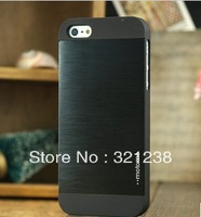 New arrivel Brushed case for apple iPhone 5 5S metal Aluminium Case cover Skin Cover retail packaging free shipping