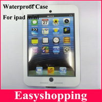 New Arrived Free shipping White Waterproof Case For Ipad Mini Under Water Outdoor Swimming Case For Mini Ipad