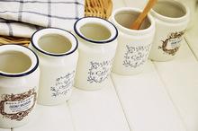 Free shipping New 2013 Zakka White ceramic ice crack Milk cans Sauce pot Tea pot Storage tank Storage bottles four optional(China (Mainland))