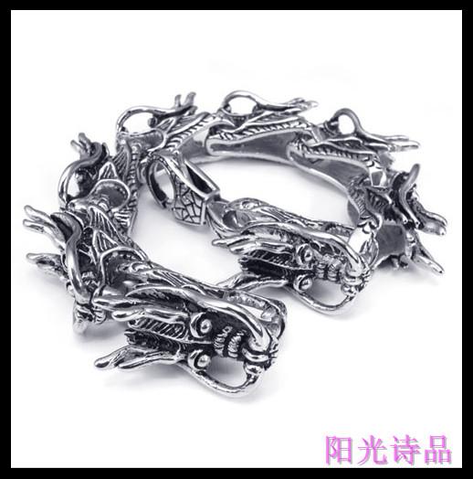 Titanium titanium accessories bold bracelet male personality bracelet vintage bracelet(China (Mainland))