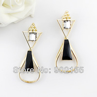 New arrivel fashion alloy jewelry imitation rhinestone vivid style enamal graceful bijoux earrings
