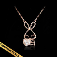 Special Necklaces 925 Silver Rhinestone Sweet Small Animals Design Hot Free Shipping Pendant Jewelry New Style Gift XL13A11179