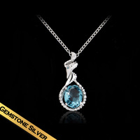 Special Necklaces Short 925 Silver Zircon Classic Fashion Design Free Shipping Pendant Luxurious Jewelry New Style XL13A11177