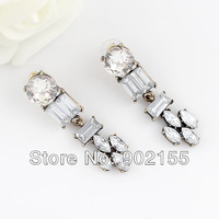 2013 Fashion alloy jewelry imitation rhinestone bling bijoux earrings for women