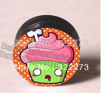 [Min. Order $20]Zombie Cupcake Ear Plug Tunnel Gauges Screw body jewelry MJEPG3679