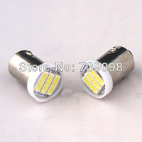 2X Pure White SMD7014 3LED Reverse BA9S 2W Rear Turn Car lights